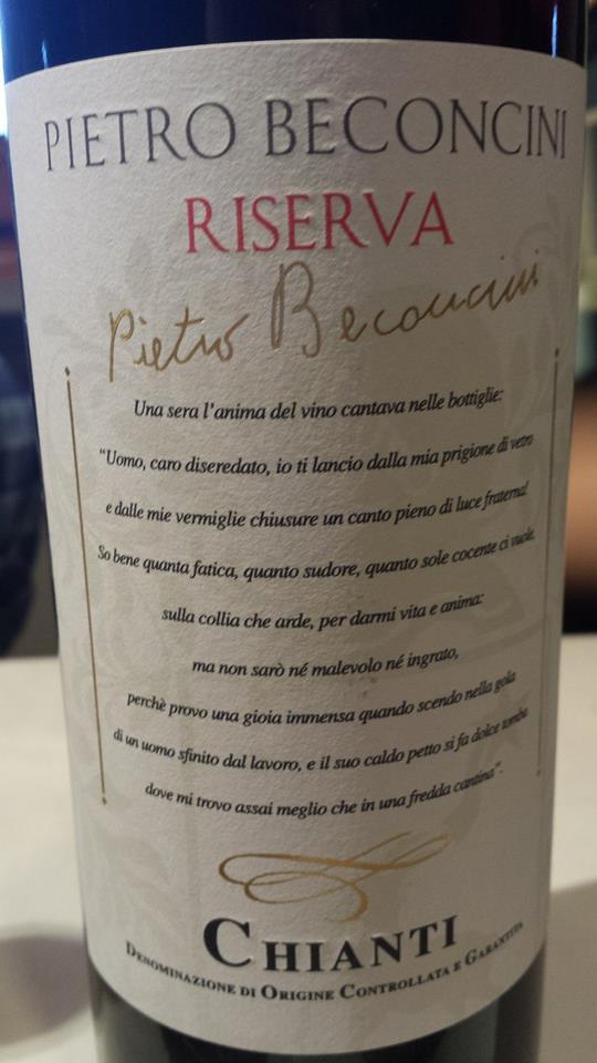 Pietro Beconcini – Riserva 2011 – Chianti