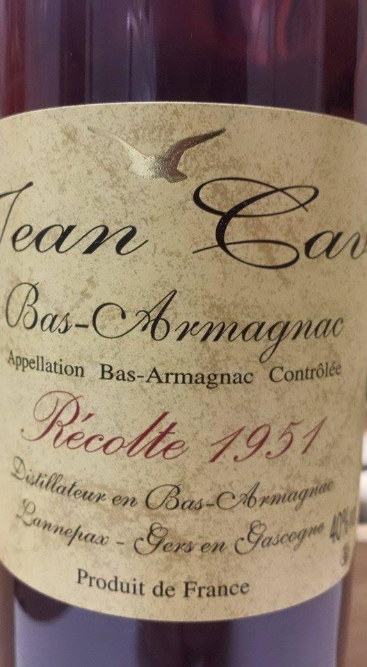 Armagnac Jean Cavé 1951 – Bas-Armagnac