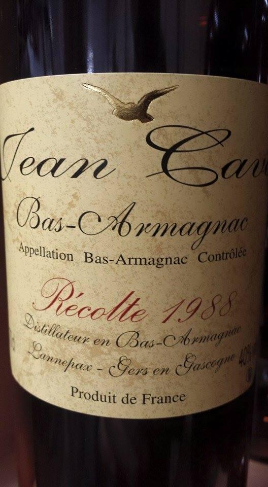 Armagnac Jean Cavé 1988 – Bas-Armagnac