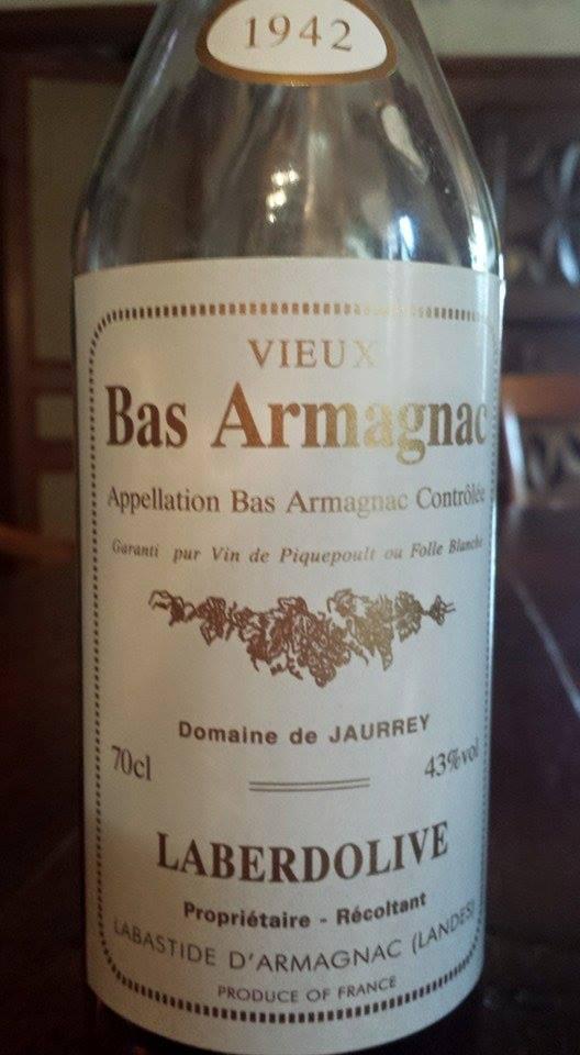 Armagnac Laberdolive 1942 – Domaine de Jaurrey – Vieux Bas-Armagnac
