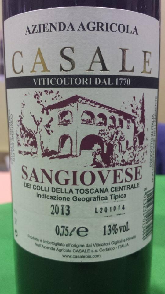 Azienda Agricola Casale – Sangiovese 2013 – Rosso dei Colli della Toscana Centrale