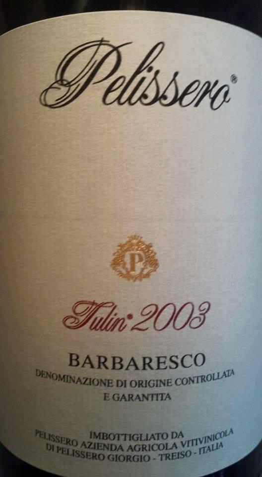 Azienda Agricola Pelissero – Tulin 2003 – Barbaresco DOCG