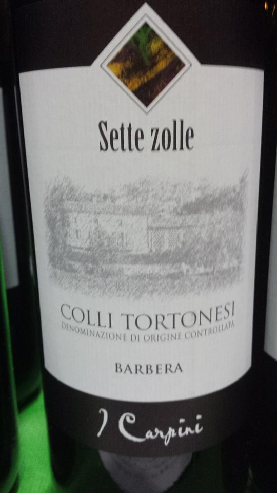 Cascina I Carpini – Sette Zolle – Barbera 2012 – Colli Tortonesi