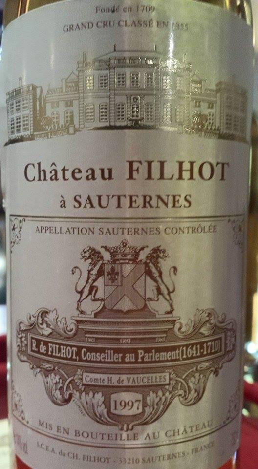 Château Filhot 1997 – 2nd Grand Cru Classé de Sauternes