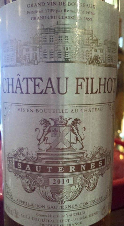 Château Filhot 2010 – 2nd Grand Cru Classé de Sauternes