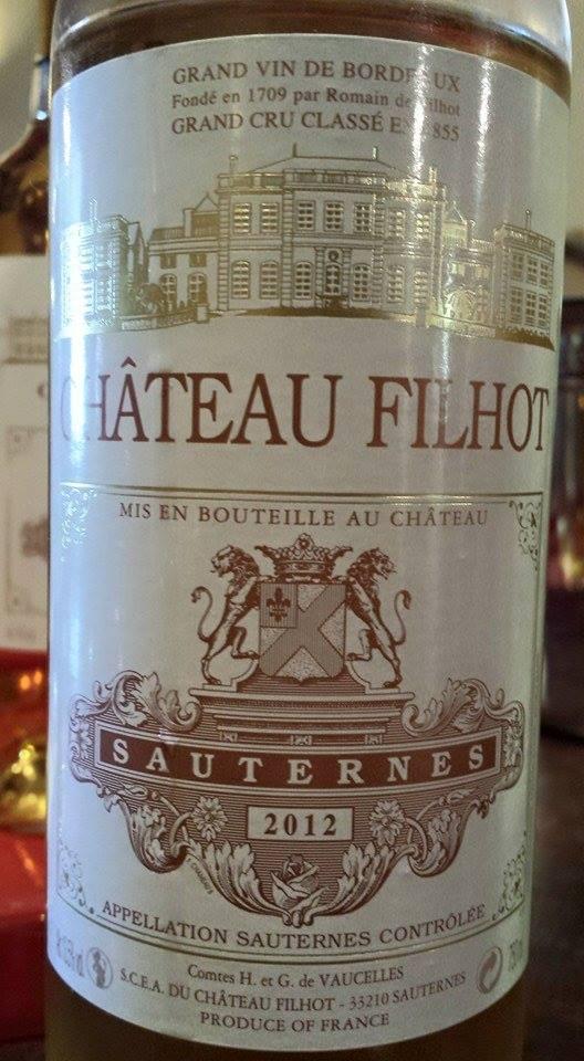 Château Filhot 2012 – 2nd Grand Cru Classé de Sauternes
