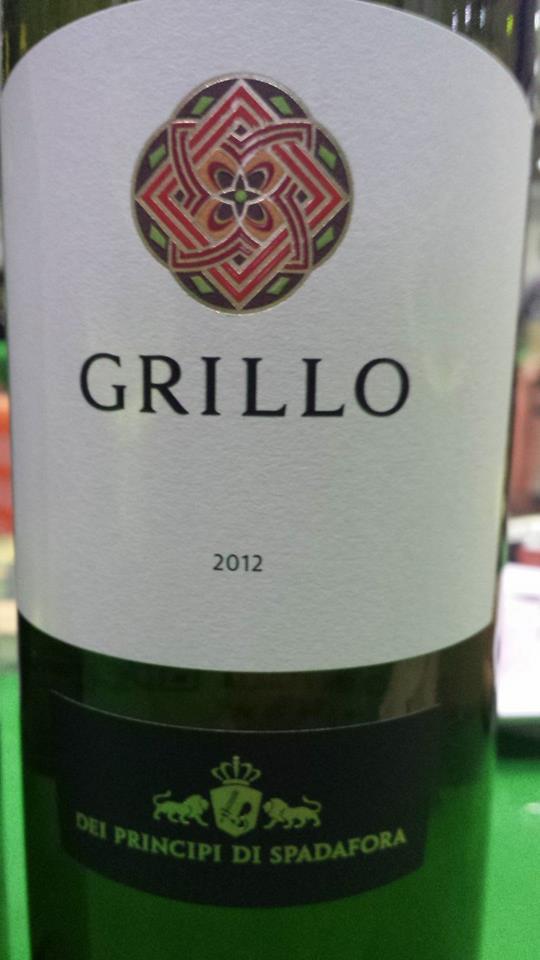 Dei Principi Di Spadafora – Grillo 2012 – Terre Siciliane IGT