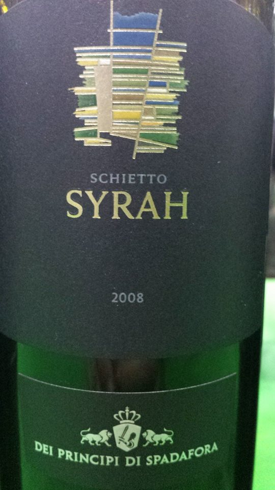 Dei Principi Di Spadafora – Schietto Syrah 2008 – Sicilia IGT