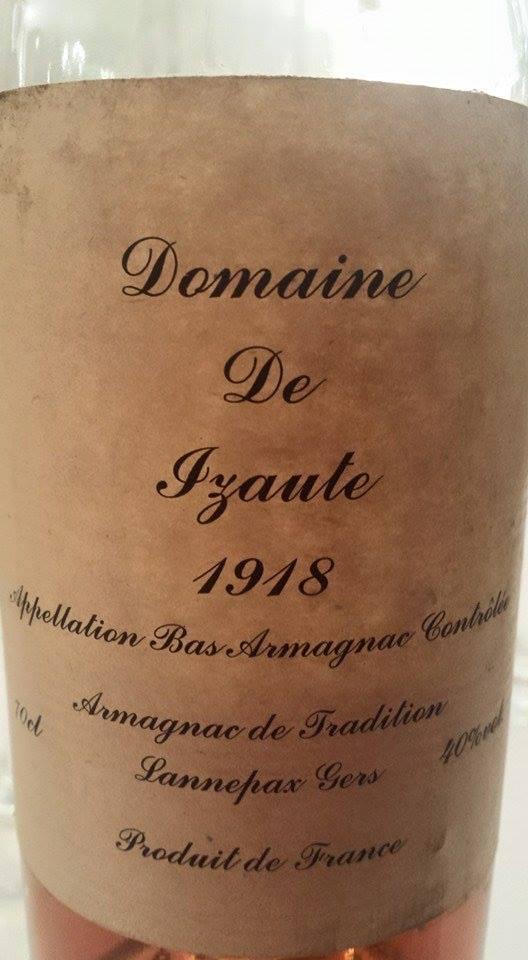 Domaine de Izaute 1918 – Bas-Armagnac