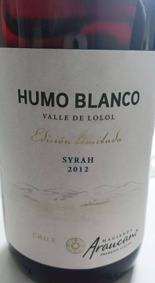Hacienda Araucano – François Lurton – Humo Blanco – Edicion Limitada Syrah 2012 – Valle de Lolol