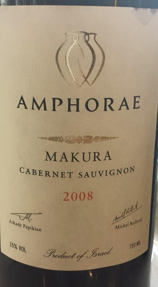 Amphorae – Makura Cabernet Sauvignon 2008 – Jerusalem Hills – Galilee