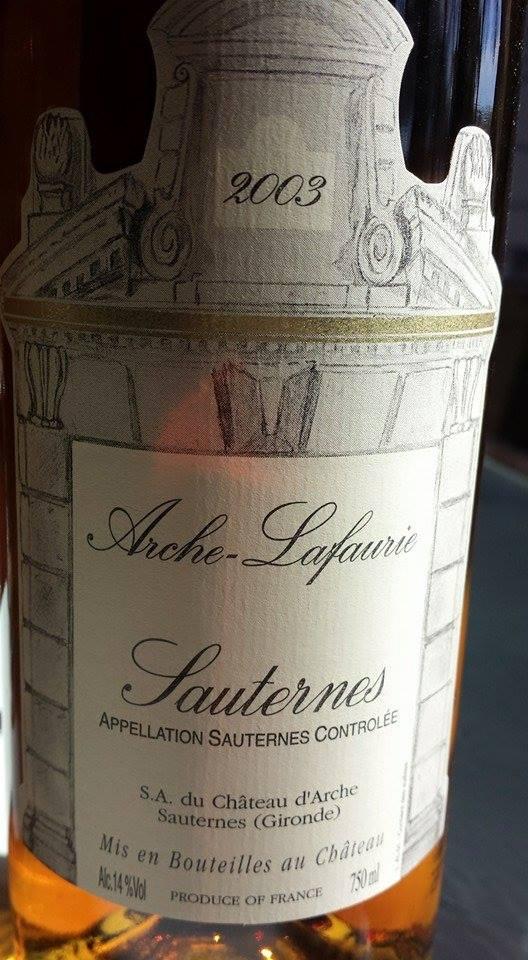 Arche-Lafaurie 2003 – Sauternes