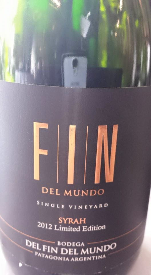 Bodega Del Fin Del Mundo – Single Vineyard – Syrah 2012 Limited Edition – Patagonia Argentina