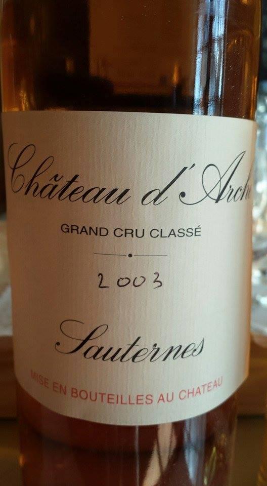 Château D'Arche 2003 – 2nd Cru Classé de Sauternes