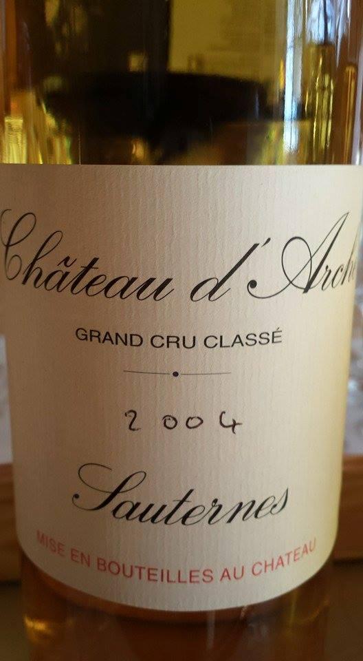 Château D'Arche 2004 – 2nd Cru Classé de Sauternes