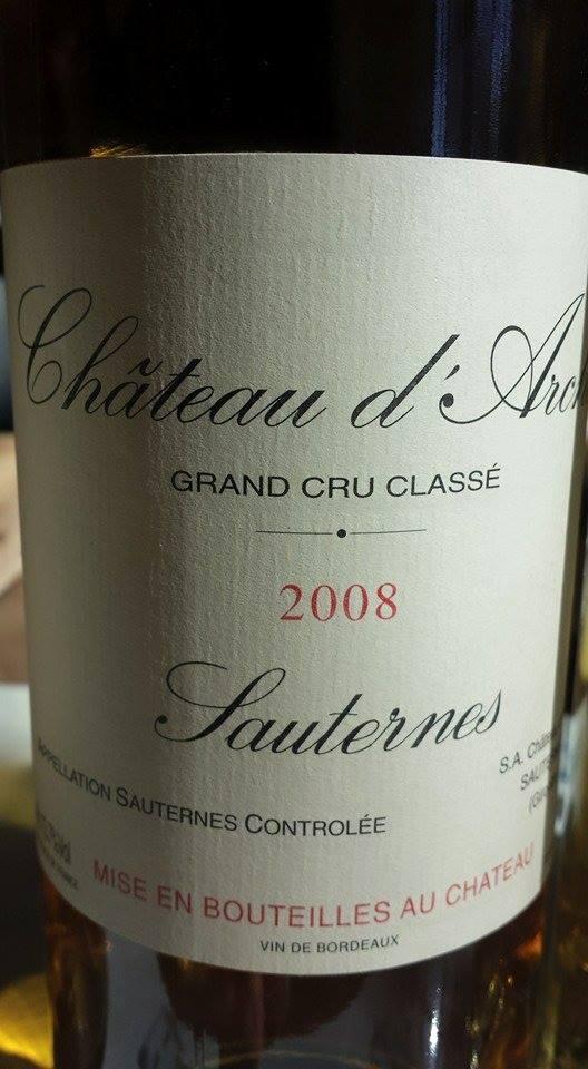 Château D'Arche 2008 – 2nd Cru Classé de Sauternes