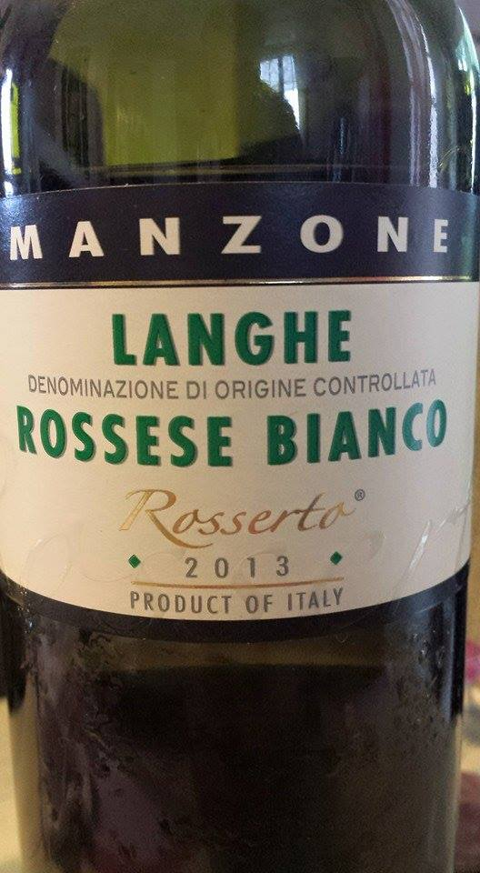 Giovanni Manzone – Rossetto 2013 – Rossese Bianco – Langhe