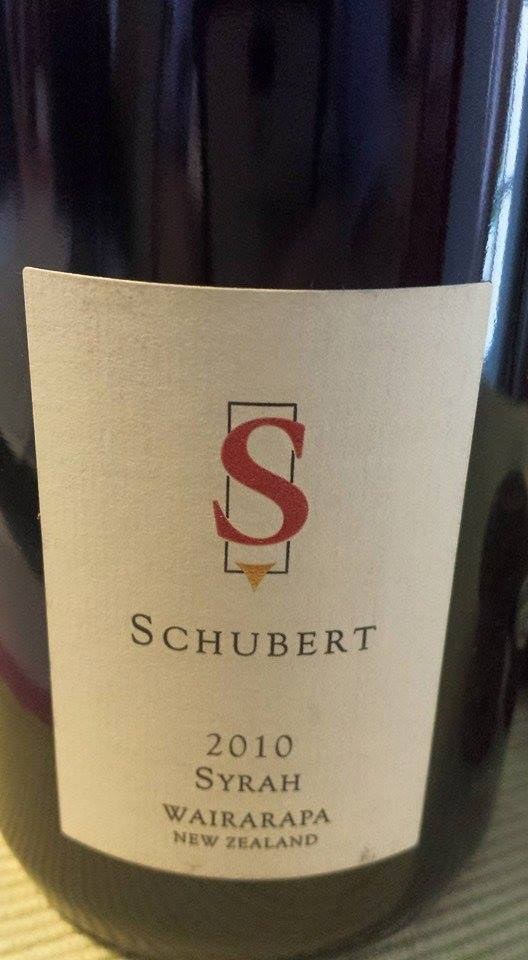 Schubert – Syrah 2010 – Wairarapa