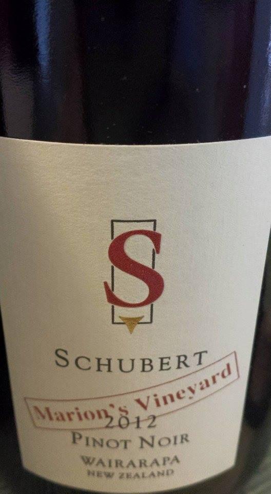 Schubert – Marion's Vineyard Pinot Noir 2012 – Wairarapa