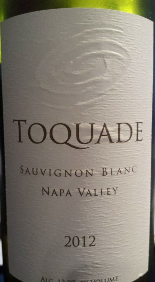 Toquade Winery – Sauvignon blanc 2012 – Napa Valley