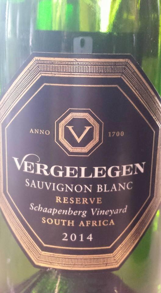 Vergelegen – Sauvignon Blanc Reserve 2014 – Stellenbosch – South Africa