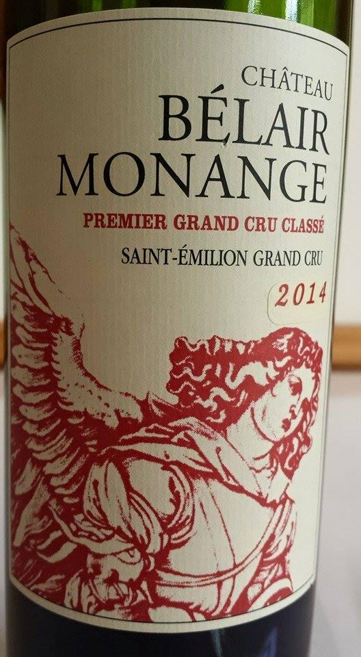 Château Bélair Monange 2014 – 1er Gand Cru Classé B de Saint-Emilion