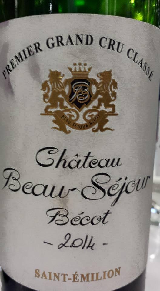 Château Beau-Séjour Bécot 2014 – 1er Grand Cru Classé B de Saint-Emilion