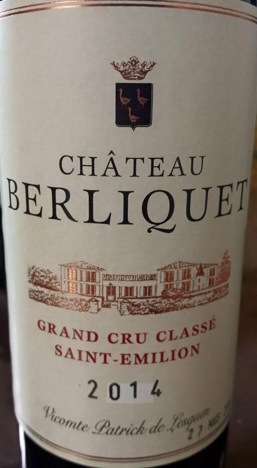 Château Berliquet 2014 – Saint-Emilion Grand Cru Classé