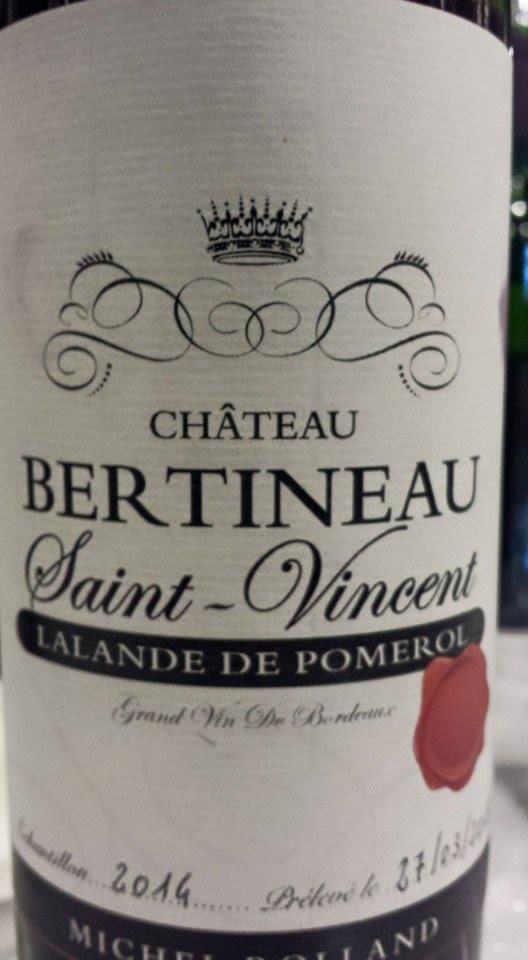 Château Bertineau Saint-Vincent 2014 – Lalande-de-Pomerol