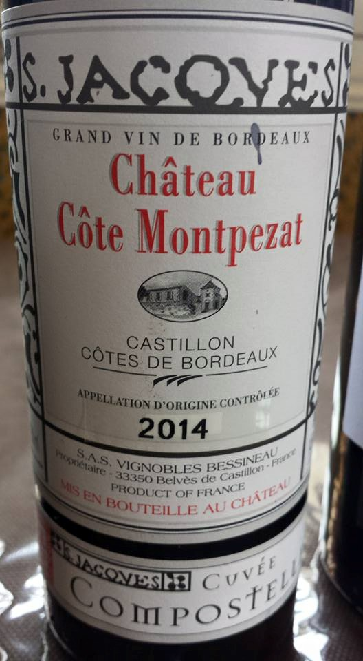 Château Côte Montpezat – Cuvée Compostelle 2014 – Castillon Côtes-de-Bordeaux