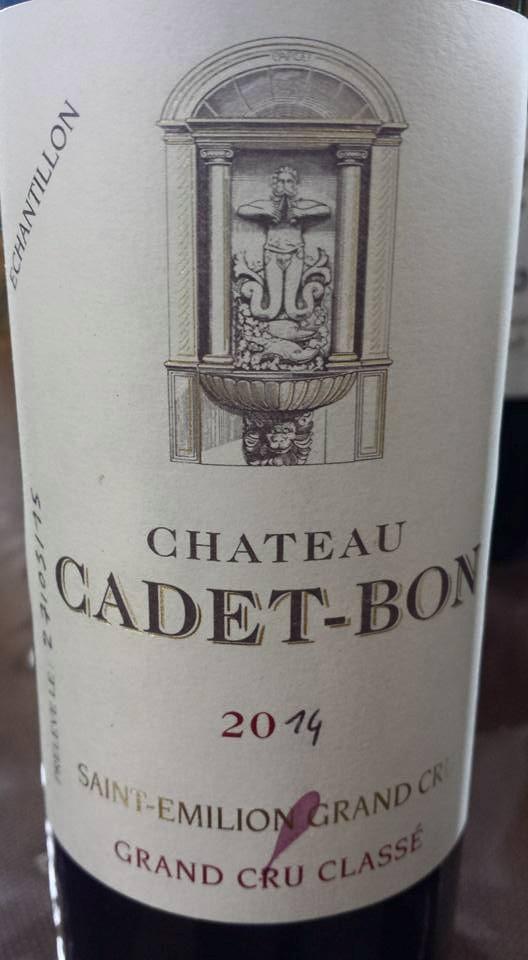 Château Cadet-Bon 2014 – Saint-Emilion Grand Cru Classé