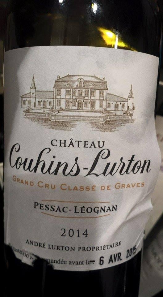 Château Couhins Lurton 2014 – Pessac-Léognan, Grand Cru Classé de Graves