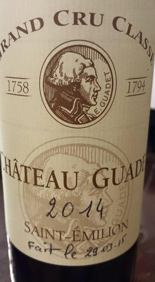 Château Guadet 2014 – Saint-Emilion Grand Cru Classé
