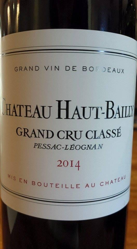 Château Haut-Bailly 2014 – Pessac-Léognan – Grand Cru Classé de Graves