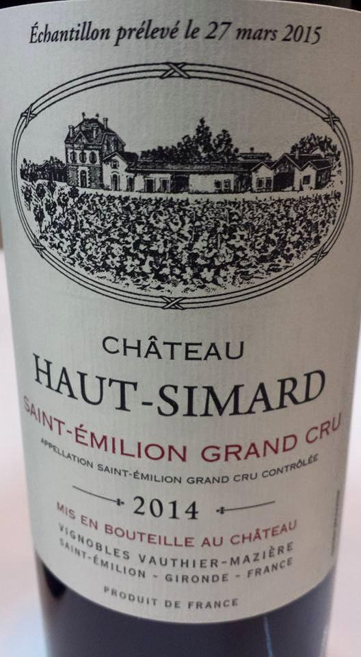 Château Haut-Simard 2014 – Saint-Emilion Grand Cru