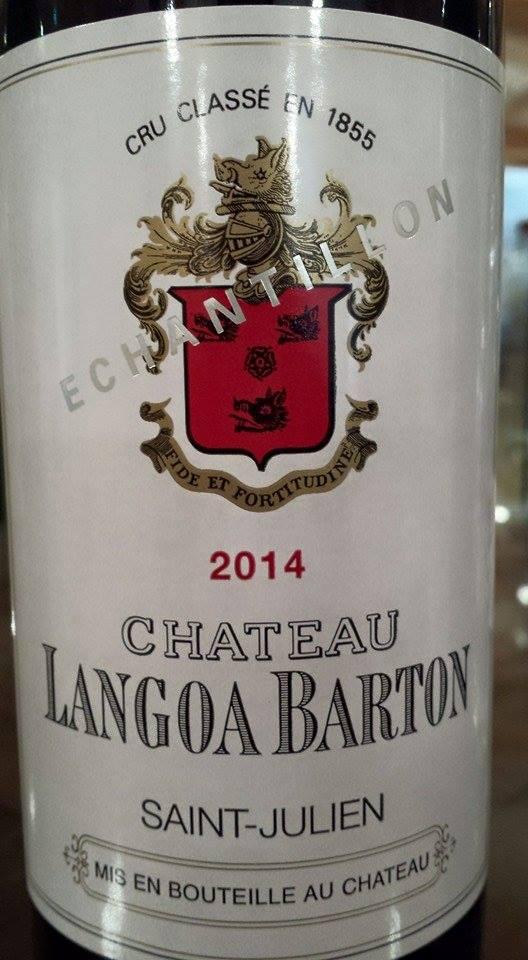 Château Langoa-Barton 2014 – 3ème Grand Cru Classé de Saint-Julien