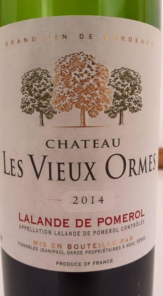 Château Les Vieux Ormes 2014 – Lalande-de-Pomerol