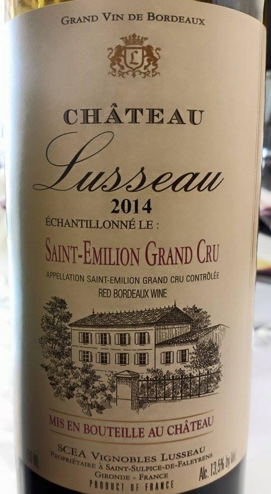 Château Lusseau 2014 – Saint-Emilion Grand Cru