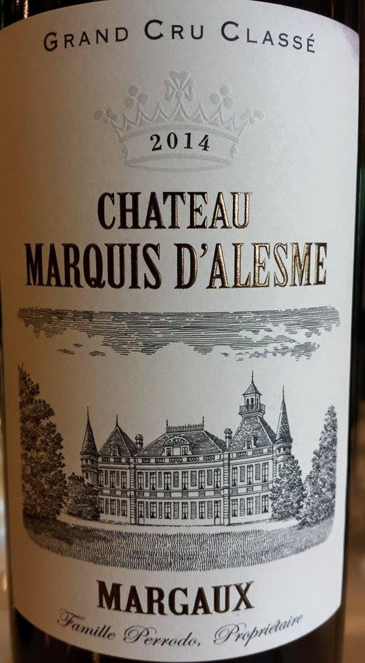 Château Marquis d'Alesme Becker 2014 – 3ème Grand Cru Classé de Margaux