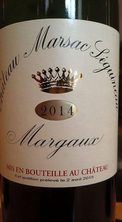 Château Marsac Seguineau 2014 – Margaux