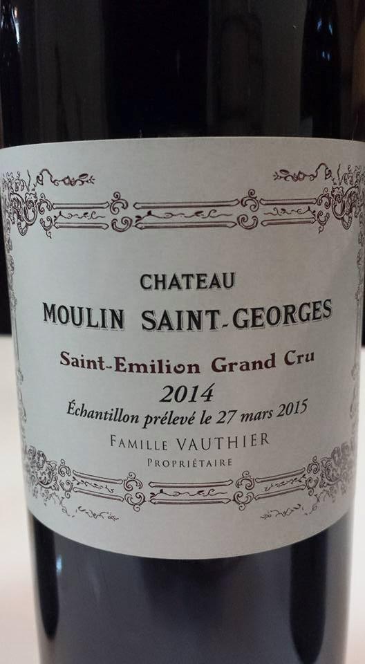 Château Moulin Saint-Georges 2014 – Saint-Emilion Grand Cru