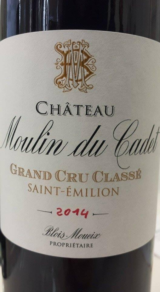 Château Moulin du Cadet 2014 – Grand Cru Classé de Saint-Emilion