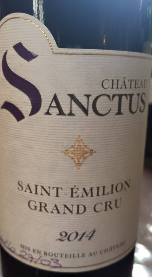 Château Sanctus 2014 – Saint-Emilion Grand Cru