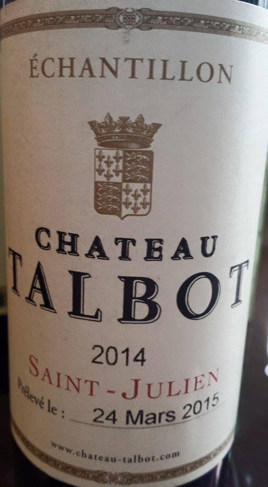 Château Talbot 2014 – 4ème Cru Classé de Saint-Julien
