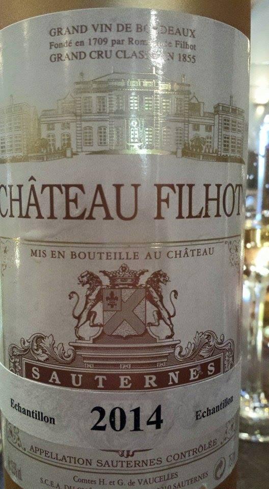 Château de Filhot 2014 – 2nd Cru Classé à Sauternes