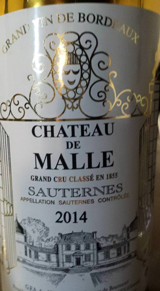 Château de Malle 2014 – 2nd Cru Classé à Sauternes