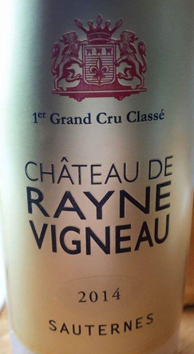 Château de Rayne Vigneau 2014 – 1er Grand Cru Classé à Sauternes