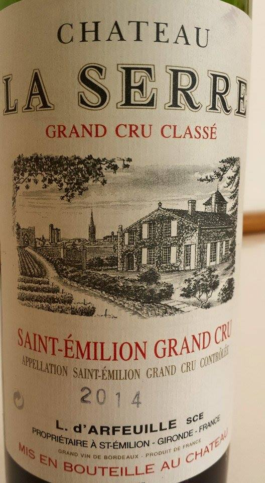 Château la Serre 2014 – Grand Cru Classé de Saint-Emilion
