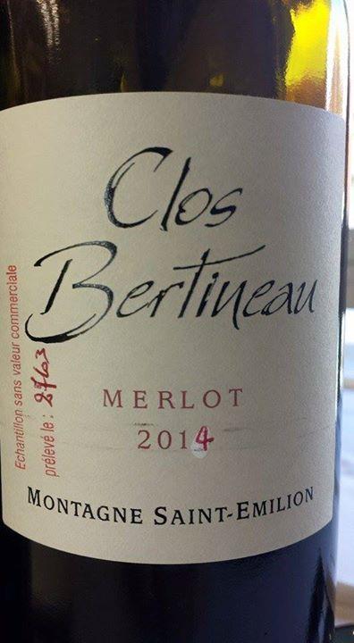 Clos Bertineau – Merlot 2014 – Montagne Saint-Emilion