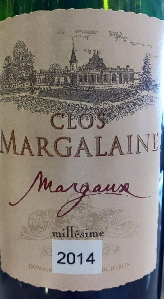 Clos Margalaine 2014 – Margaux